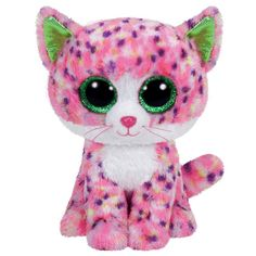 Beanie Boos Sophie the Pink Cat Beanie Boo Plush Toy Ty Beanie Boos, Beanie Babies, Ty Toys, Kids Toys, Big Eyed Stuffed Animals, Ty Peluche, Ty Animals, Toys For Little Kids, Chat Rose