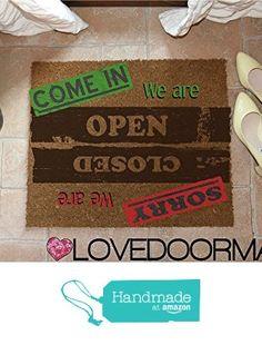 DOORMAT PERSONALIZED OPEN CLOSED NATURAL COIR CM. 67x50 DIRT DRY BRUSH LOVEDOORMAT ® HANDMADE IN ITALY from LOVEDOORMAT https://www.amazon.co.uk/dp/B071YKV8NQ/ref=hnd_sw_r_pi_dp_F2q.ybERK9A2G #handmadeatamazon