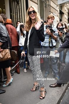 Olivia Palermo arrives to attend the Elie Saab show as part of Paris... News Photo 451895718