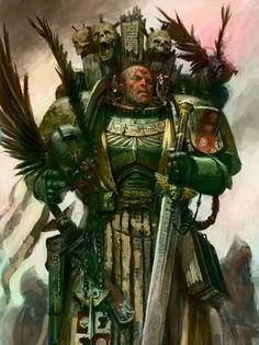 Warhammer Dark Angels, Warhammer 40k Art, Warhammer Fantasy, Fantasy Battle, Fantasy Art, Angel Art, Space Marine, Oeuvre D'art, Painting Inspiration