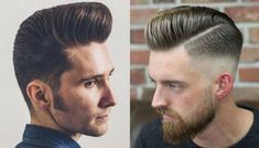 The best collection of Modern Pompadour Hairstyles, latest and best mens pompadour haircuts, mens hairstyles 2018 - 2019 Pompadour Fade Haircut, Mens Hairstyles Pompadour, Pompadour Style, Modern Pompadour, Pompadour Men, Hairstyles Haircuts, Wedding Hairstyles, Men's Hairstyle, Cool Mens Haircuts
