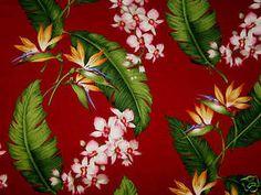 Waverly+Tropical+Fabric | PALOLO BURGUNDY HAWAIIAN COTTON TWILL DRAPERY FABRIC