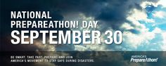 Cloudy stormy sky image. National Prepareathon! Day September 30. Be smart. Take part. Prepare. And Join America's Movement to Stay Safe During Disasters.