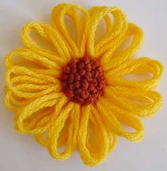 Written and video directions on post---Flower Looms: French Knot Centre