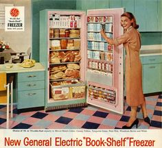 """GE """"Book-Shelf"""" Freezer -- this is an awesome freezer! Why are today's freezers so lame in comparison?"""