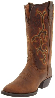 Justin Boots L2551 Women's Stampede Western Boot Sorrel Apache
