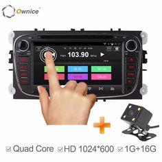 Ownice C300 2 Din 7 Дюймов Автомобиля DVD Головного Устройства для FORD FOCUS 2 MONDEO S-MAX Galaxy Kuga 2007-2012 С WI-FI GPS Радио RDS BT 1080 P