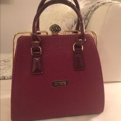Modern hand bag ! Very stylish leather bag , dark red color , brand new ! SDS Style Bags Totes