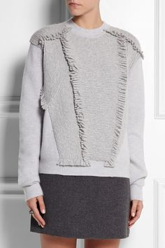 Jil Sander Fringed stretch-cashmere sweater NET-A-PORTER.COM