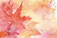 Herbst/ Autumn/ Otoño/ Automne/ 秋季 Abstract, Artwork, Painting, Watercolor Painting, Water Colors, Summary, Work Of Art, Auguste Rodin Artwork, Painting Art