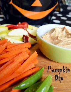 Easy Pumpkin Dip with Veggies