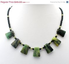 Sale Moss Agate Necklace Sterling Silver by TheJewelryLadysStore