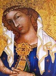 1345-50 Virgin And Child Prague detail