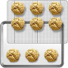 COMBO - Aluminum Baking Sheet Pan Half-Size (13 x 18) and Stainless Steel Cooling Rack (11.5 x 16.5) | Designed To Fit Perfectly Together | Only From Indigo True Company >>> For more information, visit : baking necessities