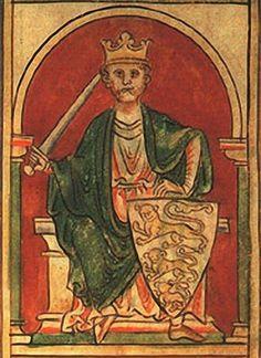 Richard Coeur de Lion (1157 - 1199) , miniature médiévale.- Hugues I° de Parthenay, en revanche de son père Guillaume IV assez discret dans ses relations avec l'Angleterre, fut un rebelle impétueux au pouvoir anglo-saxon, il verra ses domaines confisqués par le roi Richard: son chateau de Secondigny et probablement celui de Hérisson.