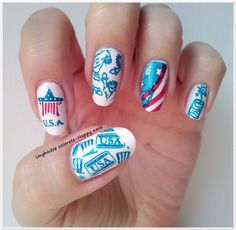 Unghiutze colorate-Happy nails: NOTD-Happy 4th July