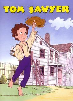 Tom Sawyer, c'est l'A-mé-ri-que 70s Cartoons, Classic Cartoons, Sweet Memories, Childhood Memories, Adventures Of Tom Sawyer, Masterpiece Theater, Old Anime, Kids Tv, Manga Characters