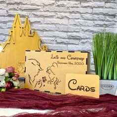 Beauty and the Beast wedding card box with slot Disney wedding card box Disney wedding gift Card Box Wedding, Wedding Guest Book, Our Wedding, Dream Wedding, Wedding Ideas, Batman Wedding, Star Wars Wedding, Disney Wedding Gifts, Disney Gift