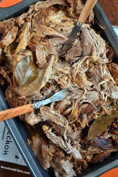 Roasted pork in casserole- Roasted pork in casserole - Shredded Beef Recipes, Pork Recipes, Mexican Food Recipes, Latin American Food, Latin Food, Mexican Pork Dishes, Lechon Asado, Carne Asada, Pork Roast