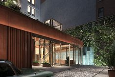 One Great Jones Alley is a residential project located in Noho, New York City. The building has a unique rear entry through a historic alley-way. The facade features a series of vertical terracotta louvers on it's western facade. Atrium, Architecture Wallpaper, New Condo, Wallpaper Magazine, Outdoor Garden Furniture, Commercial Architecture, Real Estate Services, In Law Suite, Pent House