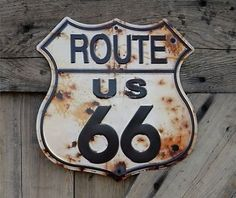 California Dreaming: Get your kicks on Route 66. Home sign