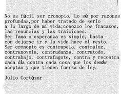 Julio Cortázar sobre los cronopios.