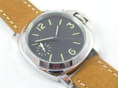 Mini Fiddy Pam Homage Military Watch Sea Gull 6497 Movement Gull, Omega Watch, Military, Sea, Watches, Best Deals, Mini, Accessories, Clocks