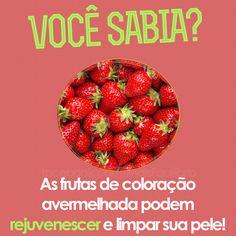As frutinhas vermelhas são amigas de sua pele!