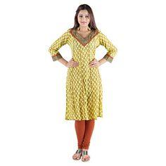 Pluss Size Damyantii Cotton Yellow Kurti For Women in Size 42 Damyantii http://www.amazon.in/dp/B00TU02E0K/ref=cm_sw_r_pi_dp_vLY-ub042WY22