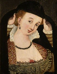 Portrait of a French Courtesan