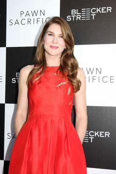 """Lily Rabe during """"Pawn Sacrifice"""" premiere in Los Angeles..."""