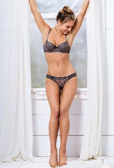 Hannah Davis is cute as a button in lingerie - Click for More Pinterest Pictures