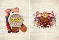 Swedish watch company TRIWA has teamed up with two of our favorite street artists, Supakitch & Koralie, for their latest collaboration. Known for their colorful Japanese manga-inspired murals, the duo translated their characteristic style into two limited edition timepieces. Each watch ismade of stainless steel, hand cut acetate and mineral glass.
