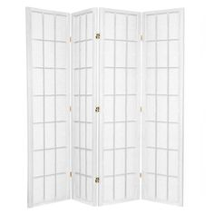 White Shoji 4 Fold Room Divider // The Room Divider Specialists