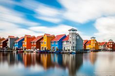 Rainbow village (Netherlands) by Marcel Braam / Wonderful Places, Beautiful Places, Marcel, Long Exposure, Beautiful Paintings, Videography, True Colors, Netherlands, Mansions