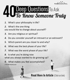 40 Deep Questions To Ask If You Really Want To Get To Know Someone . Questions To Ask People, Questions To Get To Know Someone, Intimate Questions, Questions For Friends, Questions To Ask Your Boyfriend, Getting To Know Someone, Life Questions, Couple Questions, Get To Know Me