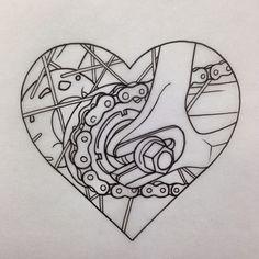 New Fixie Bike Tattoo Bicycle Art Ideas Cycling Tattoo, Bicycle Tattoo, Bike Tattoos, Bicycle Art, Cycling Art, Bike Logo, Ligne Claire, Flash Art, Tattoo Inspiration