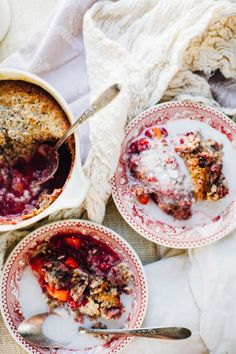 Raspberry Mango Breakfast Cobbler (Paleo, Grain Free, Vegan Option)