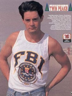Kyle MacLachlan, Twin Peaks, Italy magazine clipping