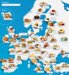 Which European country has the best pancakes? Food From Different Countries, Food Map, Around The World Food, French Crepes, Cooking 101, European Countries, Diy Food, Food Ideas, International Recipes