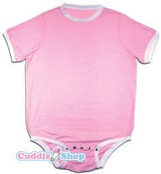 Pink onesie for adults ABDL clothing adult baby diaper lovers - Cuddlz.com