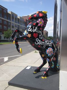 The city of Stamford, CT .See you on the Dec! Stamford Connecticut, Connecticut Usa, The Beautiful Country, Beautiful Places, Ct Usa, Painted Pony, Animal Statues, Church Architecture, Diana Ross