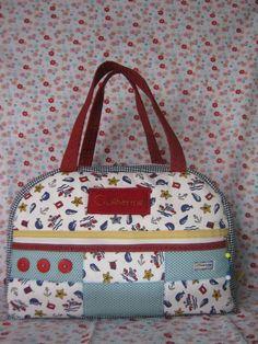 Bolsa de bebê em patchwork