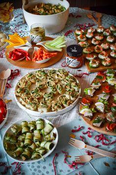 Zdrowe przekąski przystawki na Sylwestra, karnawał, wieczór panieński, imprezę Enchiladas, Feta, Grilling, Food Porn, Food And Drink, Snacks, Vegetables, Cooking, Healthy