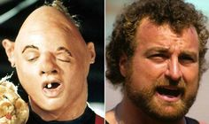 """Where Are They Now? The Goonies - John Matuszak as Lotney """"Sloth"""" Fratelli - Then and Now from 8Ball.co.uk / www.8ball.co.uk/blog/8ball_film/goonies-now/"""