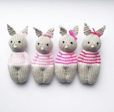 Ravelry: Bunny Friend pattern by Esther Braithwaite This Bunny Friend Doll is knit in the round on double pointed needles. The finished doll is tall, perfect for little hands to hold. Knitted Doll Patterns, Knitted Dolls, Crochet Toys, Knit Crochet, Knitting Patterns, Crochet Birds, Loom Knitting, Free Knitting, Baby Knitting