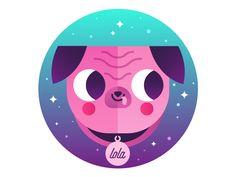 Lola The Pug by Aldo Crusher - Dribbble