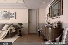 INTERIOR | 34평 네오클래식컬 st. 아파트 인테리어 Oversized Mirror, Entryway Tables, House Design, Living Room, Interior Design, Luxury, Furniture, Home Decor, Classic