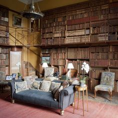 early 19th century small library at Goodwood House, seat of the Duke of Richmond / classic English country house library