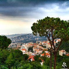 Beautiful red roofs of Brumana's houses By Ayad Abou Khzam  #Lebanon #WeAreLebanon